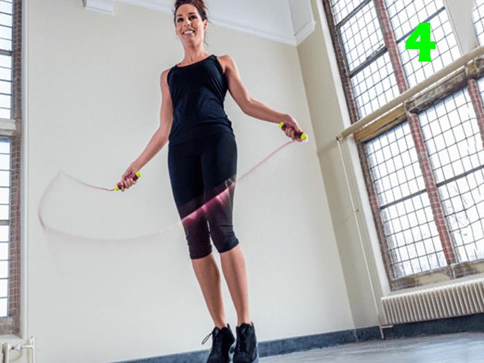 bacak boyu uzatan egzersizler ip atlamak